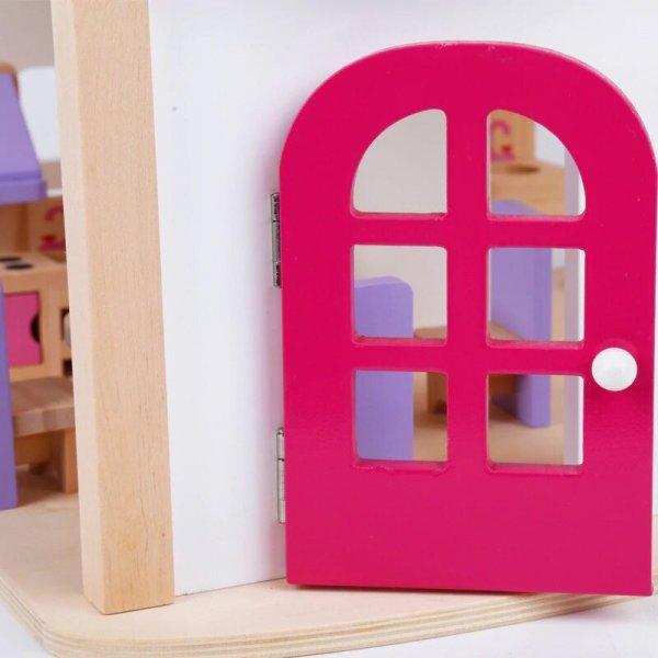 casa de papusi din lemn mobilier inclus 3