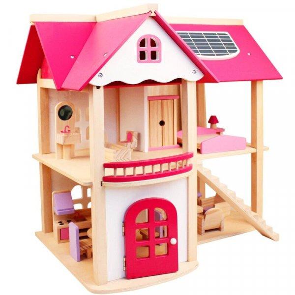 casa de papusi din lemn