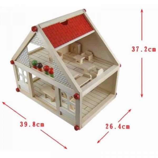 casa papusilor din lemn 2