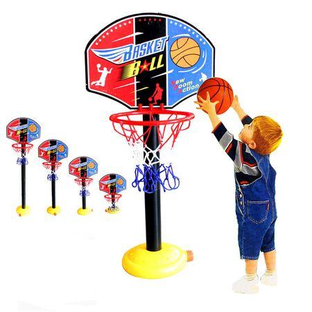 cos de baschet copii cu minge si pompa