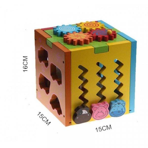 cub din lemn multifunctional forme si animalute 4