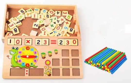 joc educativ montessori invatam matematica jucarie multifunctionala lemn6