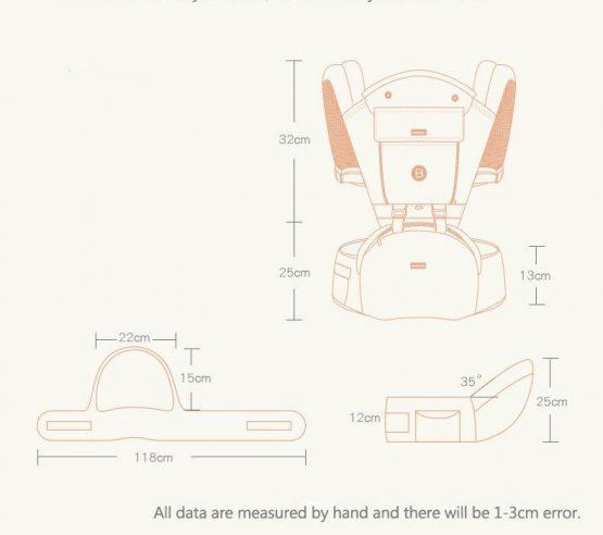 marsupiu ergonomic bebe baoneo4 cu scaunel 555x492 1