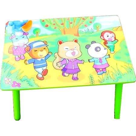 masuta copii cu doua scaune verde 3