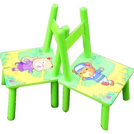 masuta copii cu doua scaune verde