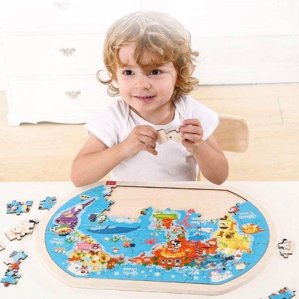 puzzle interactiv harta lumii