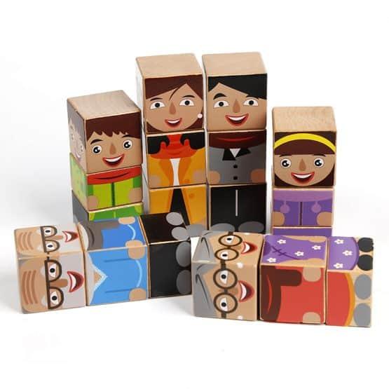 set cuburi puzzle