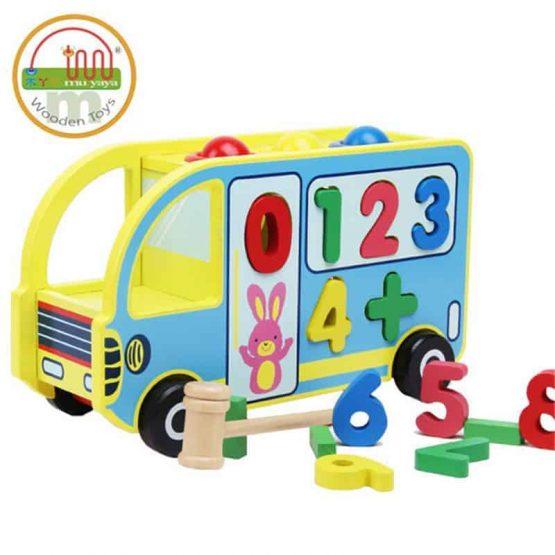 autobuz din lemn jucarie multifunctionala ciocanel cifre cu roti2 555x555 1