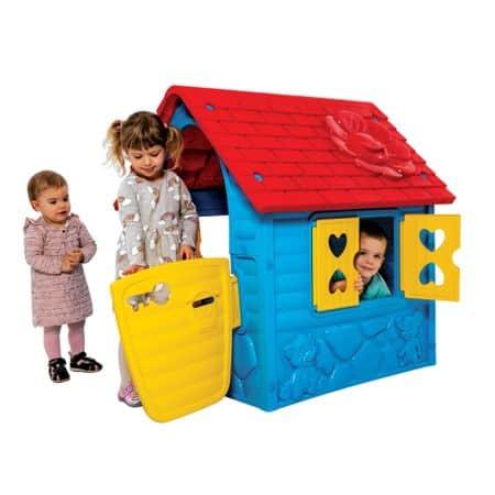 casuta de joaca pentru copii albastru 2