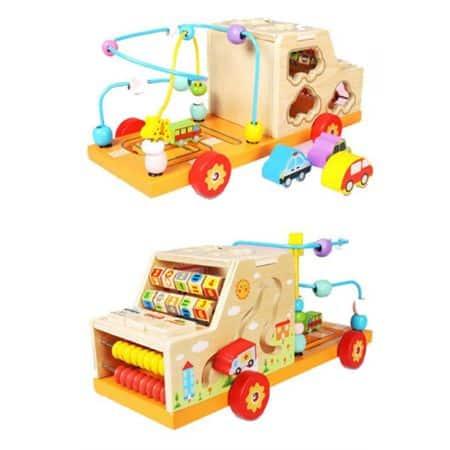 centru de activitati din lemn camion 1