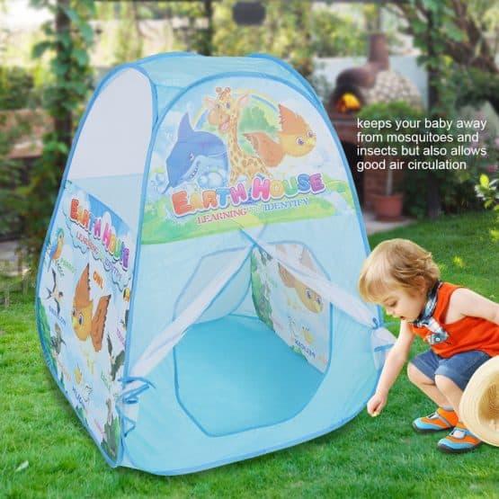 cort de joaca copii albastru 2