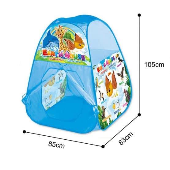 cort de joaca copii albastru 3