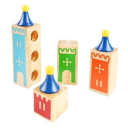 joc logic cuburi din lemn castle of dreams 1