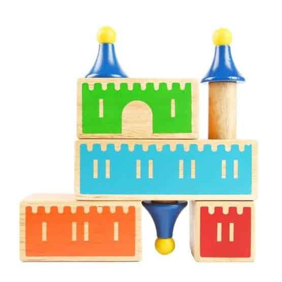 joc logic cuburi din lemn castle of dreams 2