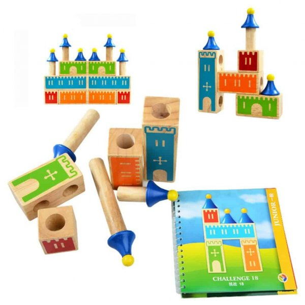 joc logic cuburi din lemn castle of dreams 4