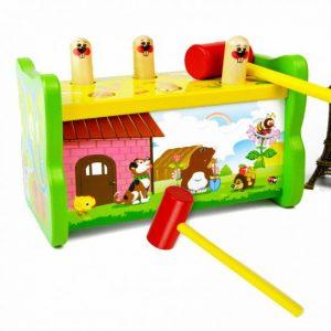 jucarie lemn hamster