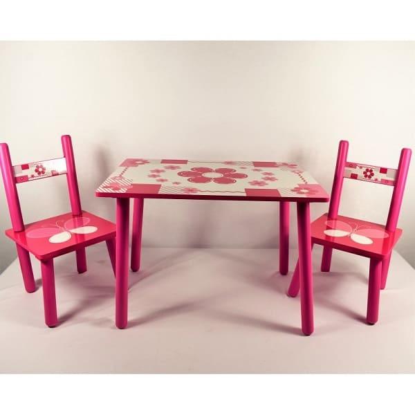 masuta copii din lemn cu doua scaunele 1
