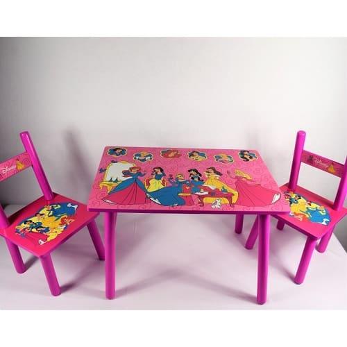 masuta copii din mdf cu 2 scaunele 2