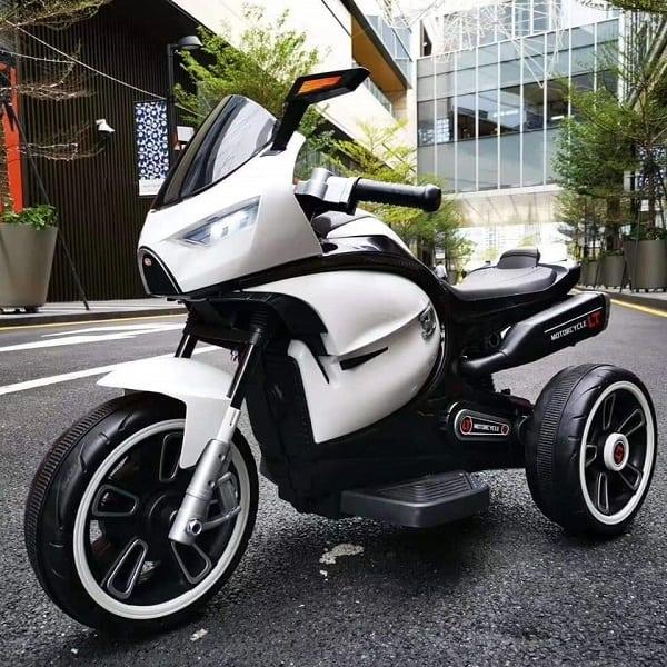 motocicleta copii alb