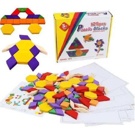 puzzle tangram 125 piese