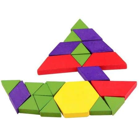puzzle tangram din lemn 125 piese