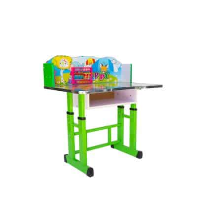 set birou cu scaun copii model elefant verde 5