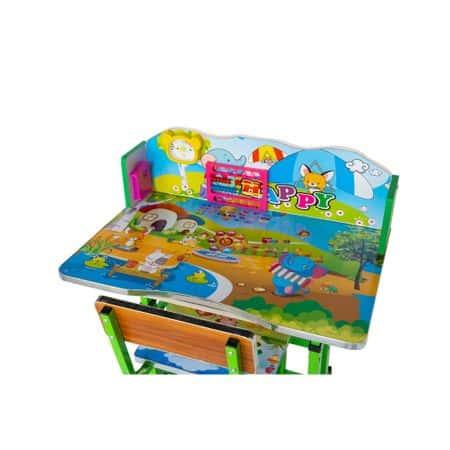 set birou cu scaun copii model elefant verde 6