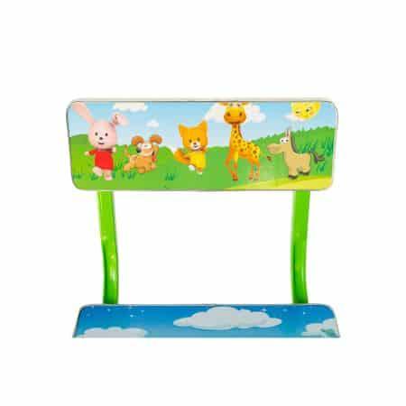 set birou cu scaun copii model elefant verde