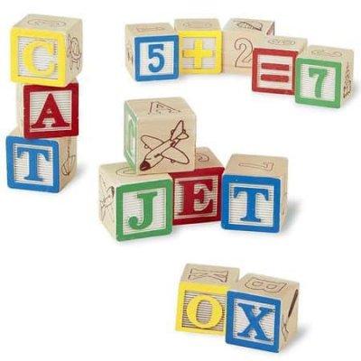 set cuburi din lemn alfabet