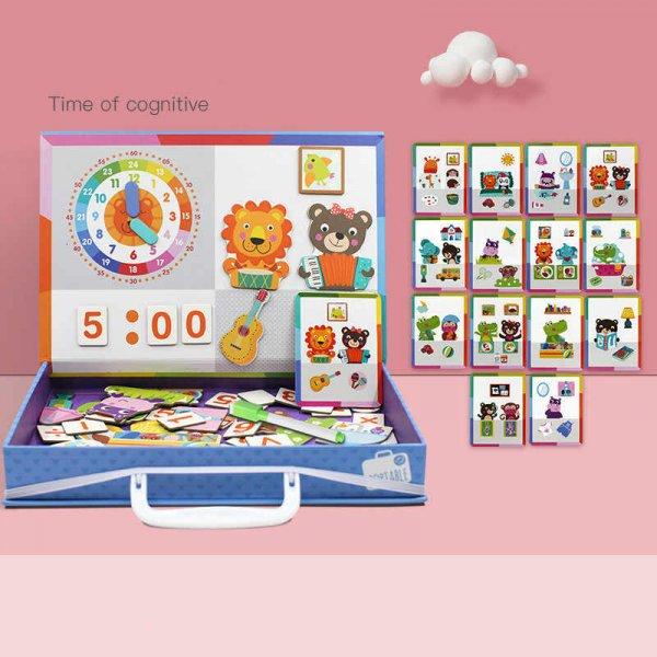 carte magnetica din lemn pentru copii