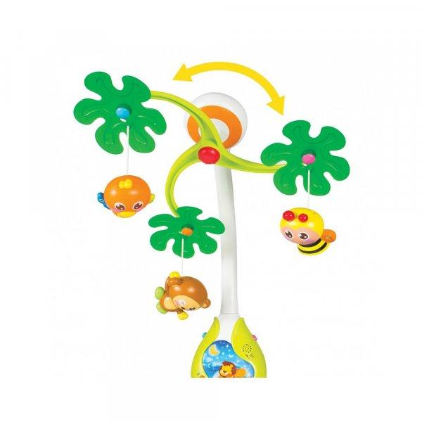 carusel muzical cu lampa de veghe hola toys