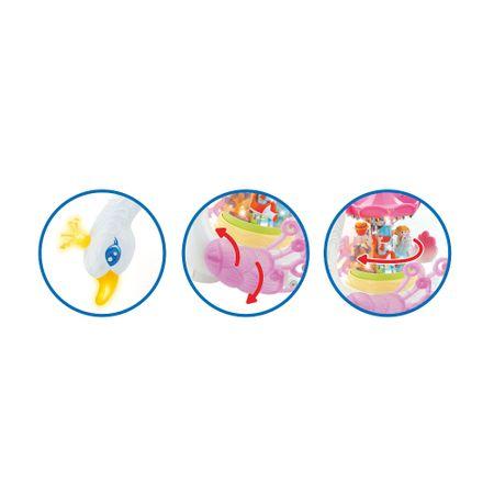 carusel muzical pentru copii lebada 2