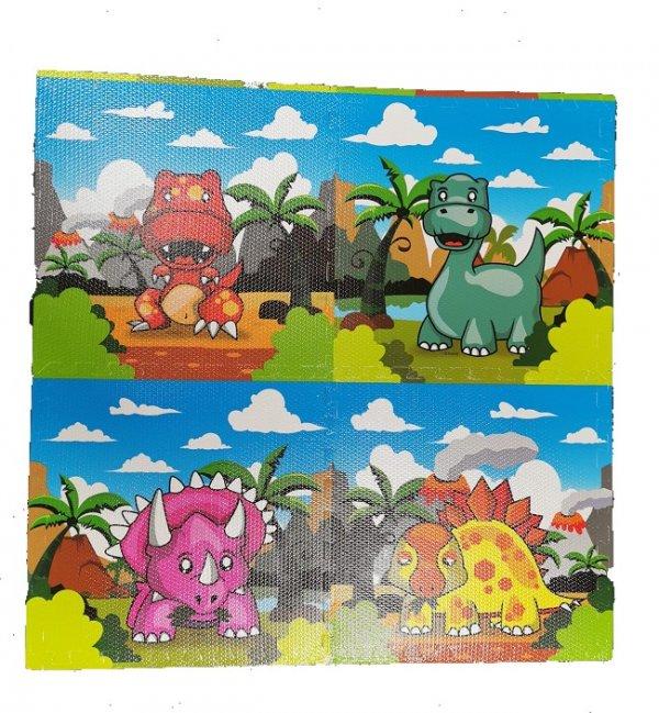 covoras de joaca puzzle dinozauri 1