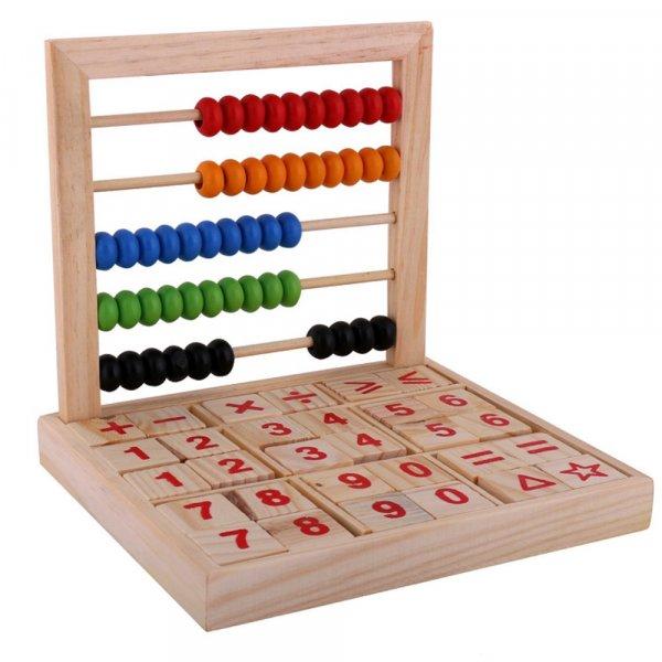 joc de socotit din lemn cu abac 2