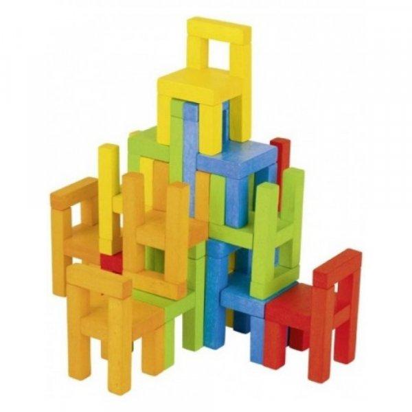 joc logic scaunele din lemn 1