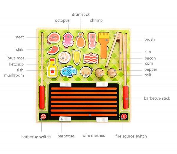 joc montessori gratar cu frigarui din lemn 1