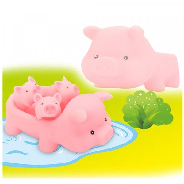 jucarie de baie porcusor cu 3 purcelusi 5