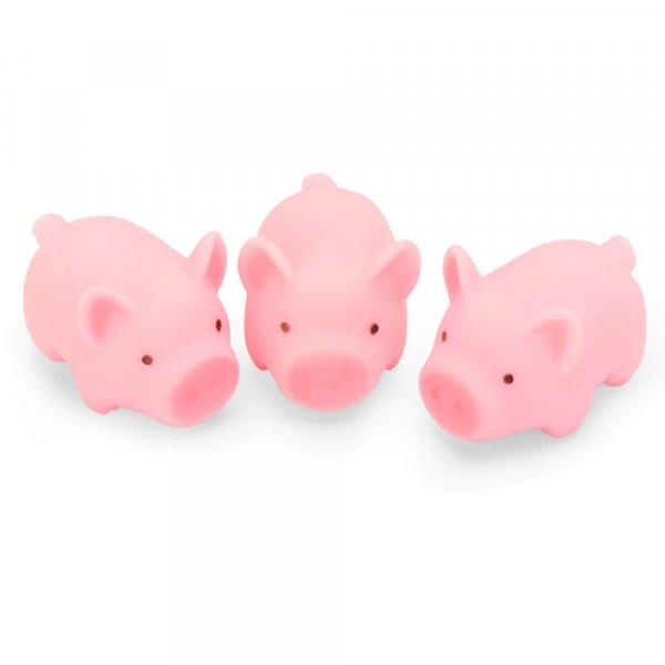 jucarie de baie porcusor cu 3 purcelusi