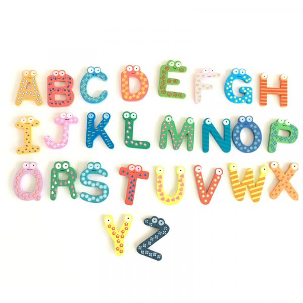 litere din lemn magnetice 1