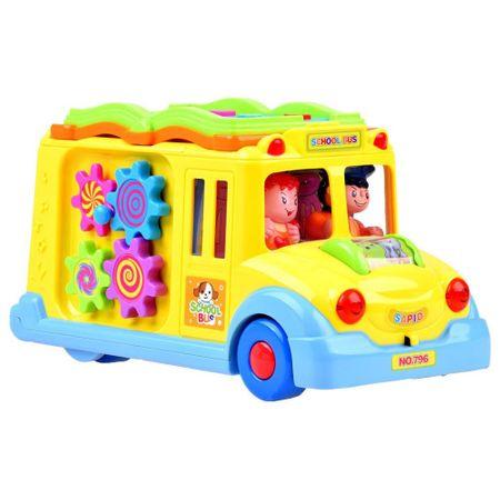 mini autobuz scolar educativ cu sunete si lumini 3