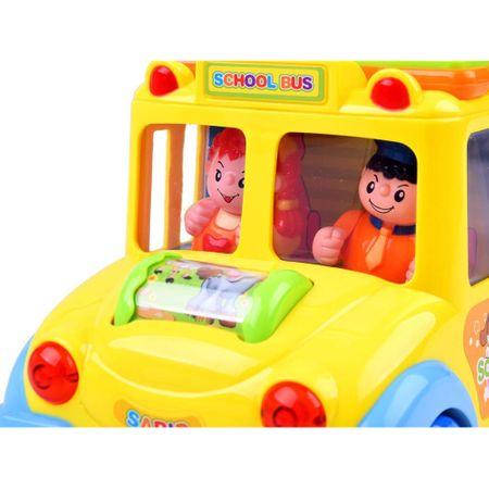 mini autobuz scolar educativ cu sunete si lumini 4