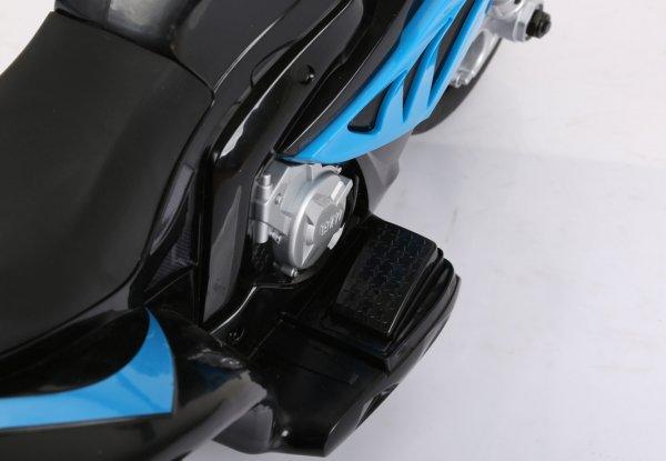 motocicleta copii bmw mic albastru ped