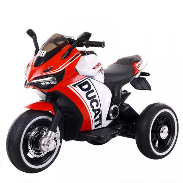 motocicleta electrica ducati rosu