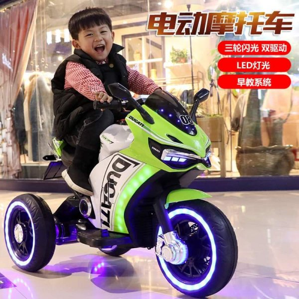 motocicleta-electrica-ducati-verde