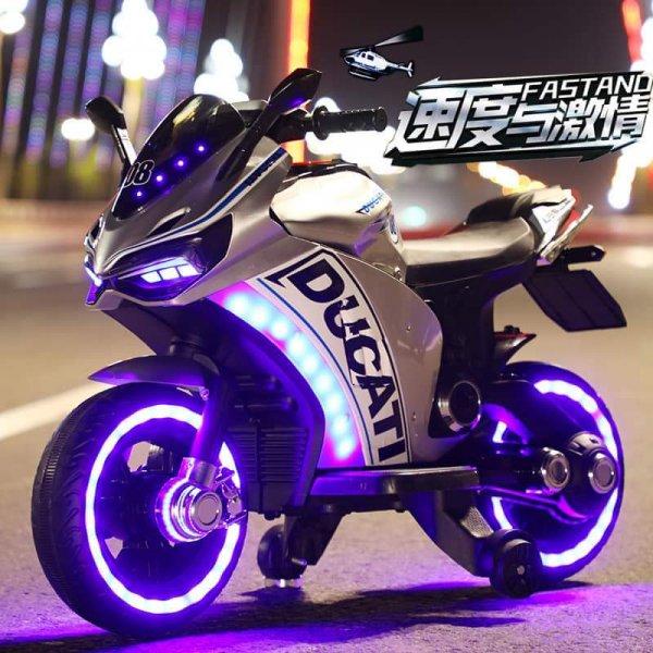 motocicleta electrica ducati gri