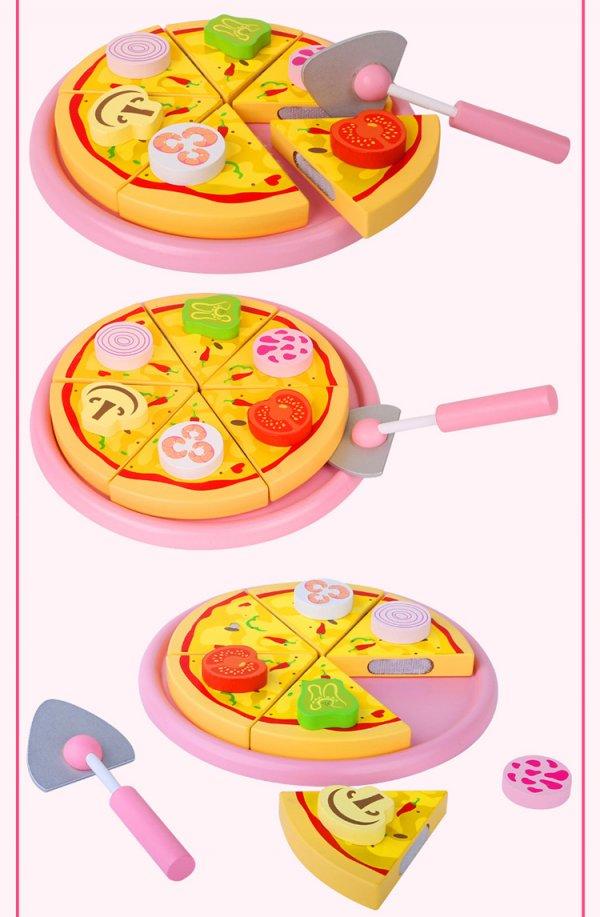pizza din lemn cu feliator 1