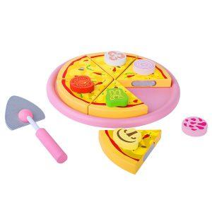 pizza din lemn cu feliator