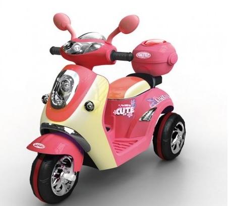 scuter electric pentru copii roz