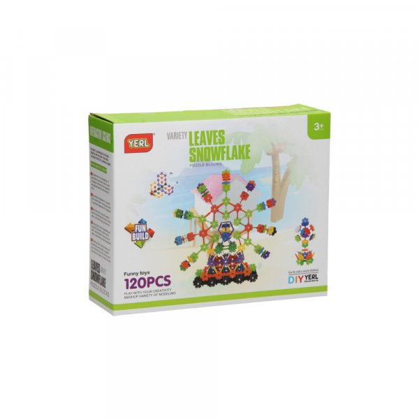 set de blocuri interactive 120 piese floricele 2