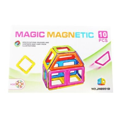 set de constructie magnetic 10 piese